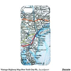 Old Freeway Map Los Angeles and San Diego iPhone 7 Case  Baby