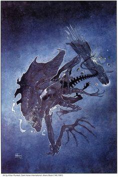 Alien xenomorph queen by Kilian Plunkett