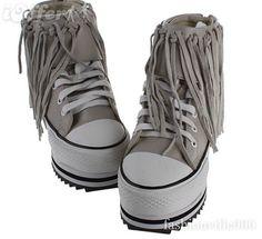 Platform Converse, yay or nay? Platform Converse, Platforms, Rock, Boots, Fashion, Crotch Boots, Moda, Fashion Styles, Skirt