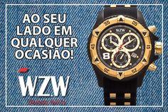 Festas, Trabalho, reunião ou para um passeio. Em qualquer ocasião conte com a WZW Relógios. Relógios Sofisticados com toda elegância e beleza que o seu evento pede.  www.wzwrelogios.com.br