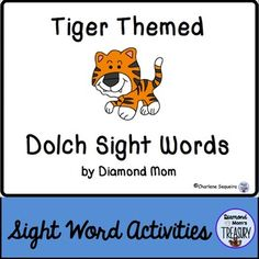 This set includes all 220 Dolch words and is in both color and black and white. It was inspired by the Chinese New Year zodiac. It can be played anytime.Tiger Sight Word Memory GameThe game is played as a typical memory game. You will need to make 2 copies of each sheet in order to do the matching.Tiger Sight Word Flash CardsUsing the same templates, practice the sight words in pairs or in sets.