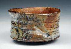 double fired tea bowl shino + ash glazes  http://susancohenpottery.com