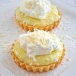 Coconut Cream Tarts with Shortbread Cookie Crust
