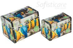 cód. 101.043 MALETAS CJ2PC ARARAS AMAZONIA 24x17x18cm
