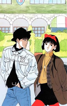 super Ideas for anime art coupel posts Manga Anime, Old Anime, Manga Art, Anime Art, Japanese Illustration, Cute Illustration, Character Illustration, Pretty Art, Cute Art