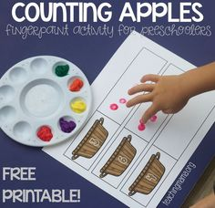 Practice one-to-one correspondence and counting with this free counting apples activity for preschoolers.