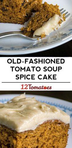 Old-Fashioned Tomato Soup Spice Cake