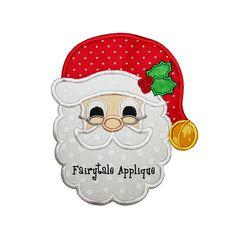 Digital Machine Embroidery Design - Jolly Santa Applique