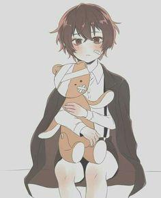 Imagine little Dazai putting bandages to his teddy bear because he thought the teddy bear was hurt. Manga Anime, Anime Chibi, Anime Art, Dazai Bungou Stray Dogs, Stray Dogs Anime, Satsuriku No Tenshi, Dazai Osamu, Angel Of Death, Comic