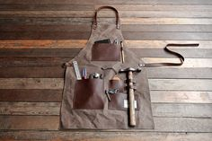 TRVR Gentlemans Apron from TRVR is an ideal companion for a gentleman hard at work in his garage on some wondrous DIY project. The apron keeps all required tools accessible.