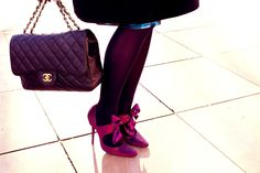 shoes by Manolo Blahnik & bag by Chanel