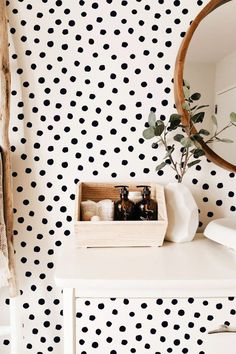 38 Ideas For Polka Dot Wall Decals Ideas Polka Dot Walls, Polka Dot Wall Decals, Polka Dot Room, Polka Dots, Modern Wall Decals, Vinyl Wall Decals, Removable Wall Decals, Stencil Decor, Nursery Decals