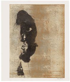 Aurore de la Morinerie,<em> Petite Robe Noire</em>, Monotypie, 2010