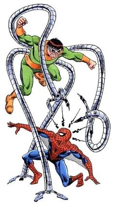 The Marvel Comics of the — Spidey vs Doc Ock by Ron Frenz Marvel Villains, Marvel Vs, Marvel Heroes, Marvel Movies, Batman, Superman, Comic Books Art, Comic Art, Dr Octopus