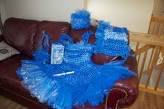 Ellerslie woman deals with cancer by making #crochet plastic dress for sister