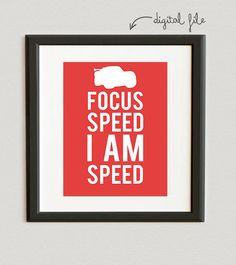 DIGITAL FILE // Focus Speed I Am Speed  Lightning by beccanicole05, $6.00