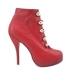 Christian Louboutin Fifre Corset Ankle Ankle Boots 120mm Leather