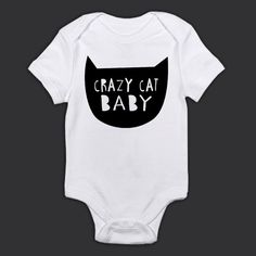 Crazy Cat Baby by DuskTilDawnClothing on Etsy