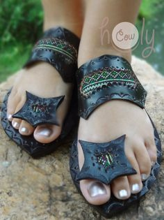 Leather Sandals Handmade Sandals Womens Sandals by HolyCowproducts