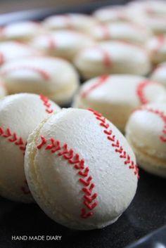 食べられる方の野球ボールのマカロン - HAND MADE DIARY別館