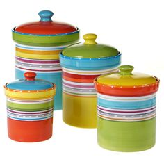 Certified International Mariachi 4 Piece Kitchen Canister Set #CertifiedInternational