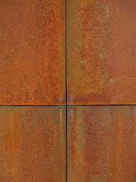 Detail of Weathered (Corten) Steel panels