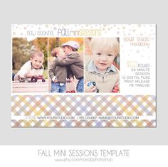 Mini Session Postcard  Photography Template  by MariaBPhotoShop