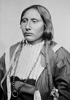 Big Tree (Ado-Eete) (ca. 1850–1929) was a Kiowa warrior and chief who was active in the Indian Territory and Texas. He gained notoriety for his participation in the Warren Wagon train Raid (Salt Creek Massacre) in 1871 but spent his later years advocating peace and acceptance of the white man's culture. Photo: ca. 1871.