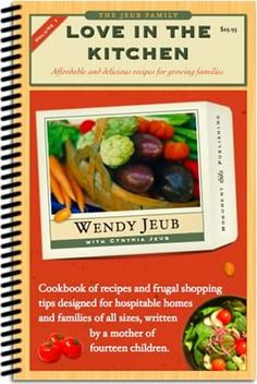 Wendys two cookbooks, Love in the House Vol. 1 and 2, are available in our bookstore.