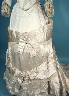 Antique Dress - Front detail 1880 wedding gown