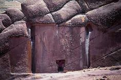 Ancient History Aliens -                                                              Aramu Muru /Valley of the Spirits Peru- they say people disappeared behind these walls.