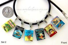 Les Aventures de Tintin Leather Necklace Set Unisex.