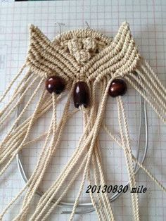 White Owl and its Nest- Macrame wall hung Macrame Wall Hanging Patterns, Macrame Plant Hangers, Macrame Patterns, Macrame Owl, Micro Macrame, Macrame Design, Paperclay, Macrame Projects, Creations
