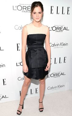 Emma Watson in Calvin Klein at Elle's Hollywood party