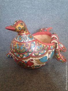 Посуда ручной работы. Ярмарка Мастеров - ручная работа Ковш утица с ложками. Handmade.