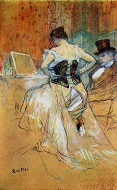 Henri De Toulouse-Lautrec-- he did the famous Moulin Rouge Poster (which I have an old print from the of, in my dining room! Henri De Toulouse Lautrec, Monet, Renoir, Oil Painting Reproductions, William Morris, French Artists, Belle Epoque, Anime Comics, Figure Drawing