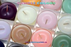 different colored candles
