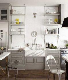Grey cabinets