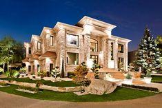 Modern Masterpiece – $4,598,000 mansion exterior night view #luxurymansion