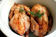 Slow cooker recipe : Poussin/Coquelets