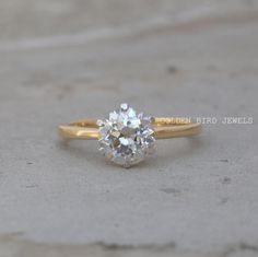 OEC Round Moissanite Ring / 1.50 CT Near Colorless Solitaire diamond Engagement Rings / Unique Yellow Gold Solitaire Rings / Rings For Women  #SolitaireMoissaniteRing #OldEuropeanRoundCutMoissanite #ChristmasGift #YellowGoldRing #AnniversaryRing #NewYearGift #SolitaireRing #AnnivesaryRing #AnniversarySolitaireRing #WeddingRing #MoissaniteWeddingRing #EngagementRing #MoissaniteEngagementRing #RoundCutMoissaniteRing #YellowGoldMoissaniteRing #OECRoundCutMoissaniteRing #WhiteMoissaniteRing Diamond Solitaire Rings, Diamond Wedding Rings, Yellow Gold Rings, White Gold, Solid Gold Jewelry, Moissanite Rings, Eternity Bands, Anniversary Rings, Natural Diamonds