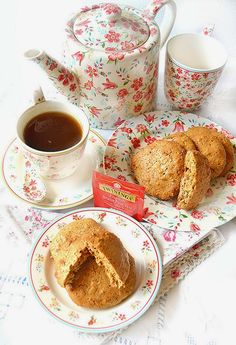 : Tea Time-Biscotti rustici al caffè light