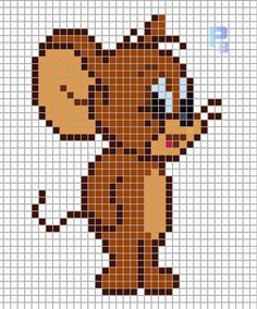Pin by Kathy Romito on Perler bead patterns Graph Paper Drawings, Graph Paper Art, Beaded Cross Stitch, Cross Stitch Embroidery, Beading Patterns, Embroidery Patterns, Loom Beading, Crochet Patterns, Cross Stitch Designs