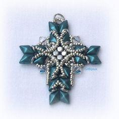 8 Awesome Beaded Cross Pendants Tutorials - The Beading Gem's Journal Diy Glitter Earrings, Beading Projects, Beading Ideas, Beaded Jewelry, Craft Jewelry, Jewelry Ideas, Beaded Cross, Earring Tutorial, Cross Earrings