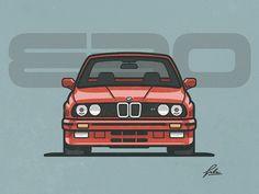 BMW E30 by Eddie Lobanovskiy #Design Popular #Dribbble #shots