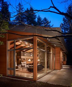 Facebook Twitter Google+ Pinterest StumbleUpon The spectacular Lake Forest Park Residence is a renovation of an existing 1950's Northwest Contemporary house on a secluded, wooded site about 25 miles north of Seattle, Washington designed by Finne Architects. With extensive new windows and glazed roof monitors, the renovated house appears to be a glass pavilion in …