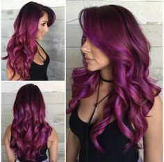 Are you looking for unique hair color ideas for winter and spring? See our colle… Are you looking for unique hair color ideas for winter and spring? See our collection full of unique hair color ideas for winter and spring and get inspired! Hair Color Purple, Cool Hair Color, Burgundy Colour, Burgundy Highlights, Unique Hair Color, Color Highlights, Pink Color, Fuschia Hair, Crazy Colour Hair Dye