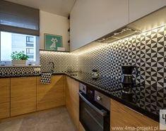 """Aranżacje wnętrz - Salon: Mieszkanie 64 m2 z """"loftowym"""" akcentem. - Średni salon z kuchnią z jadalnią, styl nowoczesny - 4ma projekt. Przeglądaj, dodawaj i zapisuj najlepsze zdjęcia, pomysły i inspiracje designerskie. W bazie mamy już prawie milion fotografii!"""