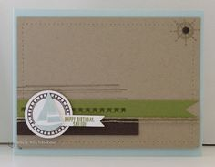 Greeting Card Happy Birthday Sailor Handmade by Rubberredneck, $5.95
