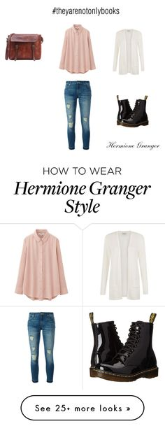 """""""#theyarenotonlybooks Hermione Granger"""" by unicorn-island-is-real on Polyvore featuring People Tree, Uniqlo, MICHAEL Michael Kors and Dr. Martens"""